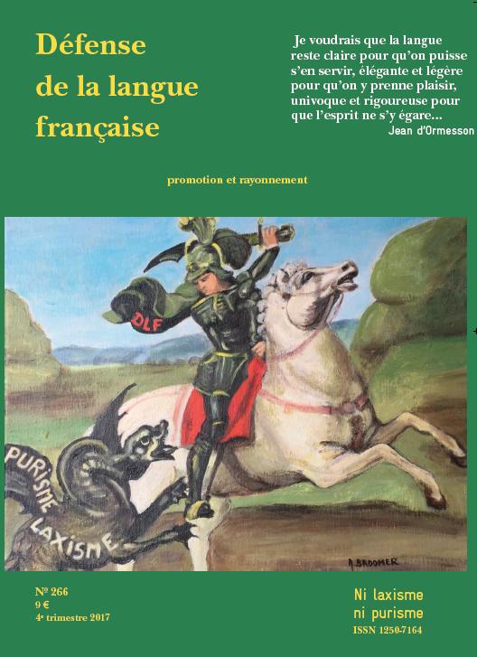 DEFENSE DE LA LANGUE FRANCAISE